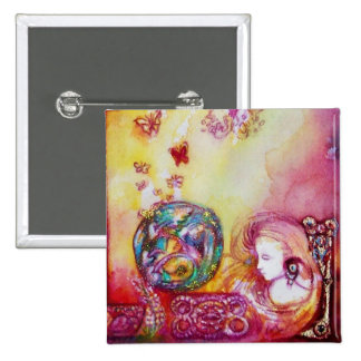 GARDEN OF THE LOST SHADOWS -FAIRY AND BUTTERFLIES 15 CM SQUARE BADGE