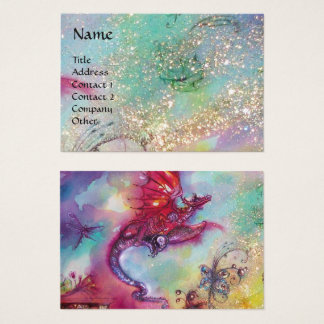 GARDEN OF THE LOST SHADOWS ,FLYING RED DRAGON Blue Business Card