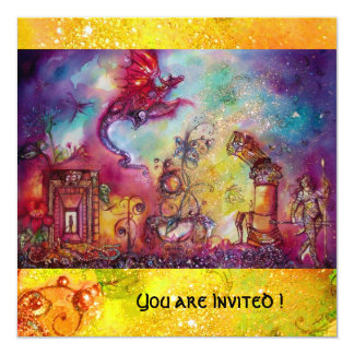 GARDEN OF THE LOST SHADOWS -FLYING RED DRAGON PERSONALIZED INVITES