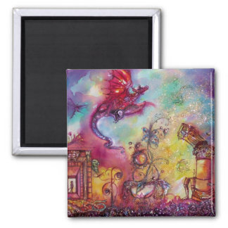 GARDEN OF THE LOST SHADOWS / FLYING RED DRAGON SQUARE MAGNET