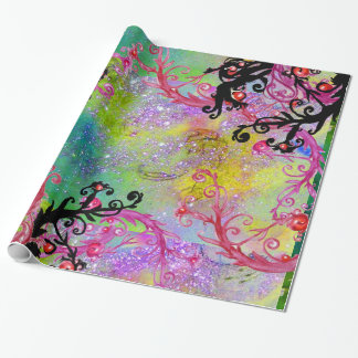 GARDEN OF THE LOST SHADOWS,MAGIC BERRIES IN PURPLE GIFT WRAP PAPER