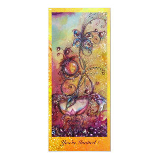 GARDEN OF THE LOST SHADOWS -MAGIC BUTTERFLY PLANT 10 CM X 24 CM INVITATION CARD
