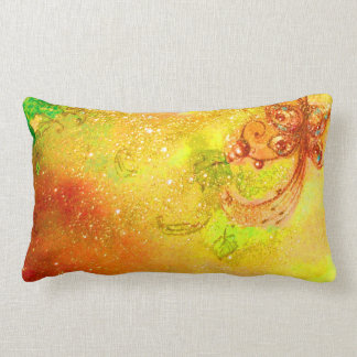 GARDEN OF THE LOST SHADOWS -MAGIC BUTTERFLY PLANT THROW PILLOWS