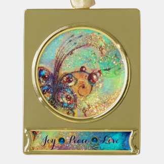 GARDEN OF THE LOST SHADOWS -MAGIC BUTTERFLY PLANT GOLD PLATED BANNER ORNAMENT