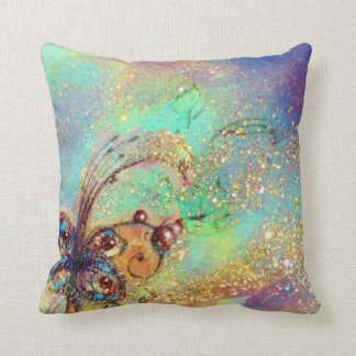 GARDEN OF THE LOST SHADOWS -MAGIC BUTTERFLY PLANT THROW CUSHION