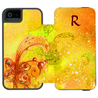 GARDEN OF THE LOST SHADOWS -MAGIC BUTTERFLY PLANT INCIPIO WATSON™ iPhone 5 WALLET CASE