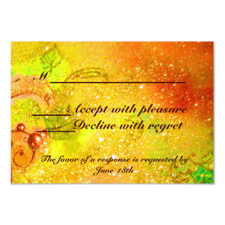 GARDEN OF THE LOST SHADOWS / MAGIC BUTTERFLY RSVP 9 CM X 13 CM INVITATION CARD