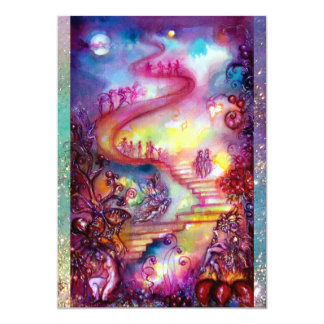 GARDEN OF THE LOST SHADOWS / MYSTIC STAIRS 13 CM X 18 CM INVITATION CARD