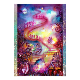 GARDEN OF THE LOST SHADOWS / MYSTIC STAIRS PERSONALIZED ANNOUNCEMENT