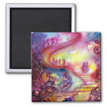 GARDEN OF THE LOST SHADOWS / MYSTIC STAIRS SQUARE MAGNET