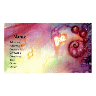 GARDEN OF THE LOST SHADOWS MYSTIC STAIRS pink red Business Card