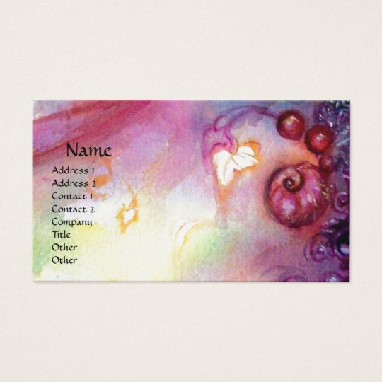 GARDEN OF THE LOST SHADOWS ,MYSTIC STAIRS pink red Business Card