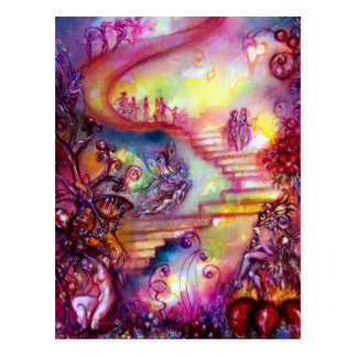 GARDEN OF THE LOST SHADOWS / MYSTIC STAIRS POST CARD
