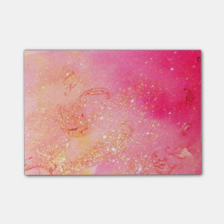 GARDEN OF THE LOST SHADOWS PINK GOLD SPARKLES POST-IT NOTES