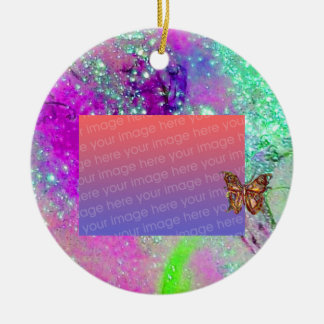 GARDEN OF THE LOST SHADOWS Purple Photo Template Ornaments