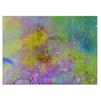 GARDEN OF THE LOST SHADOWS -Purple Yellow Green Cutting Board