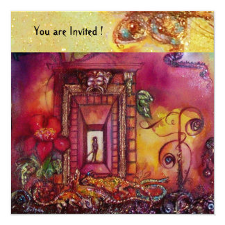 GARDEN OF THE LOST SHADOWS -SNAKES AND IGUANAS 13 CM X 13 CM SQUARE INVITATION CARD