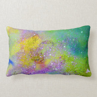 GARDEN OF THE LOST SHADOWS -yellow, purple violet Pillow