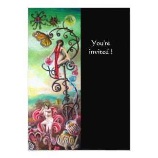 GARDEN OF THE MELISSA gold 13 Cm X 18 Cm Invitation Card