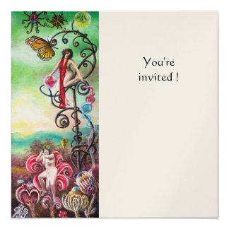 GARDEN OF THE MELISSA gold 13 Cm X 13 Cm Square Invitation Card