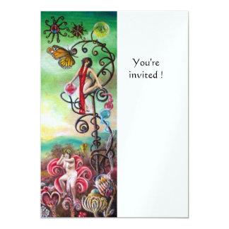 GARDEN OF THE MELISSA ice 13 Cm X 18 Cm Invitation Card
