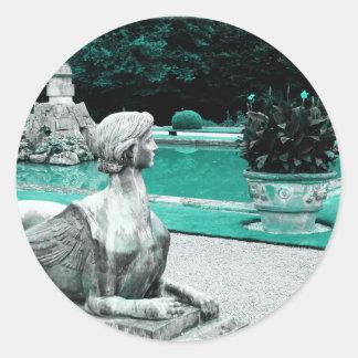 Garden of the Sphinx Round Sticker