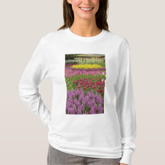 Garden of tulips, daffodils, and hyacinth T-Shirt