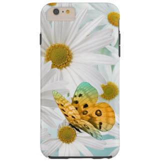 Garden of White Daisies with Aqua and Butterfly Tough iPhone 6 Plus Case