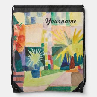 """Garden On Lake Thun"" Art backpack"