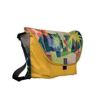"""Garden On Lake Thun"" Art messenger bag"