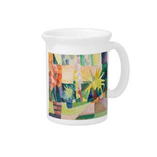 """Garden On Lake Thun"" Art pitcher"