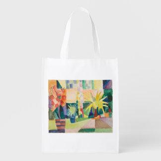 """""""Garden On Lake Thun"""" Art reusable bag"""
