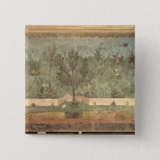 Garden Paintings from the  'Villa of Livia' 15 Cm Square Badge