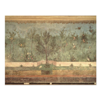 Garden Paintings from the  'Villa of Livia' Postcard