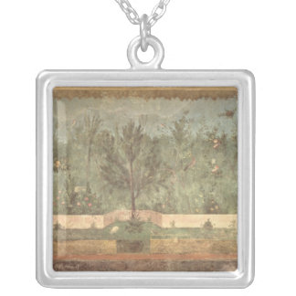 Garden Paintings from the  'Villa of Livia' Silver Plated Necklace