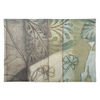 Garden Panel with Leaves, Flowers, and Grass Placemat