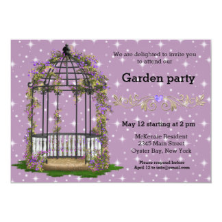 Garden Party * CHOOSE your background color Card