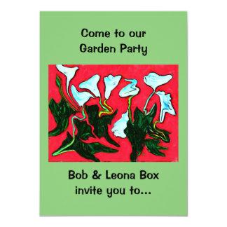 """garden party invitation 4.5"""" x 6.25"""" invitation card"""