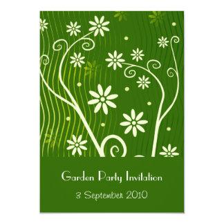 """Garden Party Invitation 5"""" X 7"""" Invitation Card"""