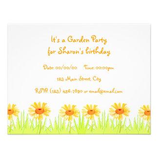 Garden Party Custom Invites