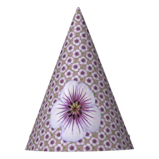 Garden Party Purple Flower on any Color Party Hat