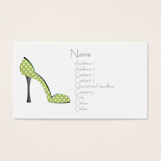 Garden Party Shoe Business Card