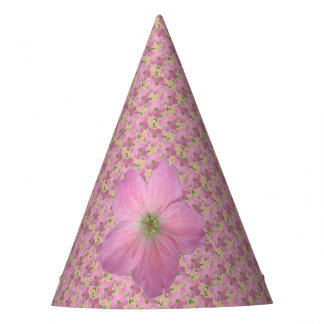 Garden Party Sweet Pink Flower on any Color Party Hat