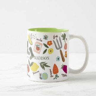 Garden Party Two-Tone Mug