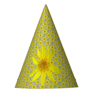 Garden Party Yellow Flowers on any Color Party Hat