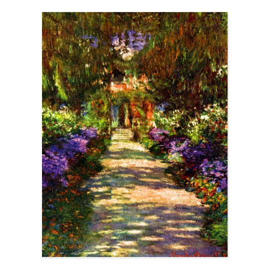 Garden Path by Claude Monet Postcard
