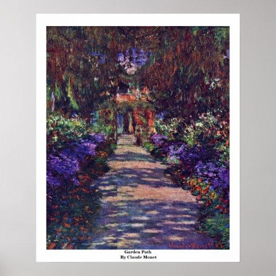 Garden Path By Claude Monet Poster