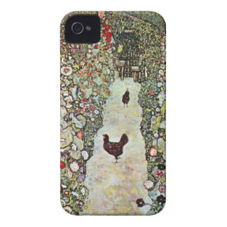 Garden Path w Chickens, Gustav Klimt, Art Nouveau Case-Mate iPhone 4 Case