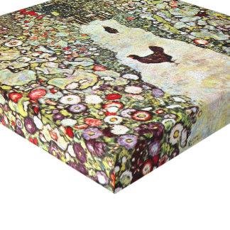 Garden Path w Chickens, Gustav Klimt, Art Nouveau Gallery Wrap Canvas