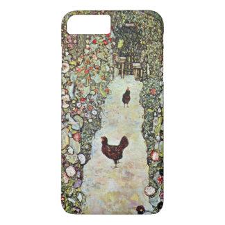 Garden Path w Chickens, Gustav Klimt, Art Nouveau iPhone 8 Plus/7 Plus Case